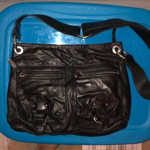 TANO cross body leather bag
